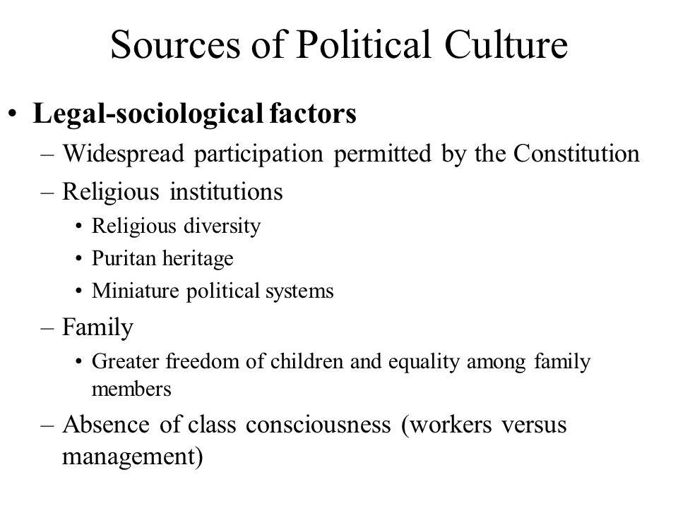 Sources of Political Culture