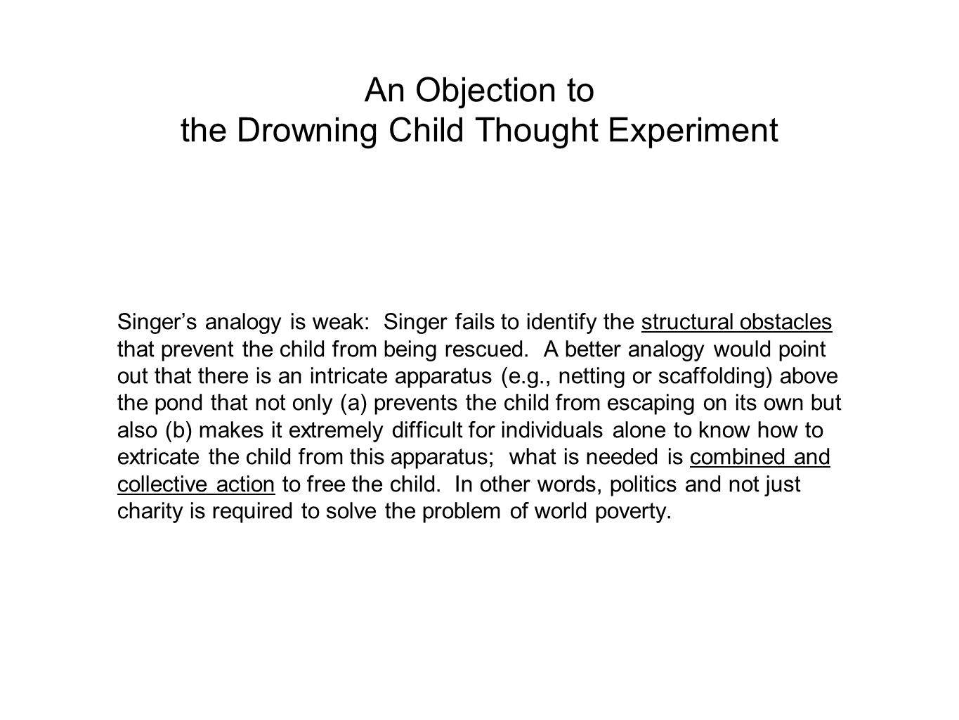 An Objection to the Drowning Child Thought Experiment