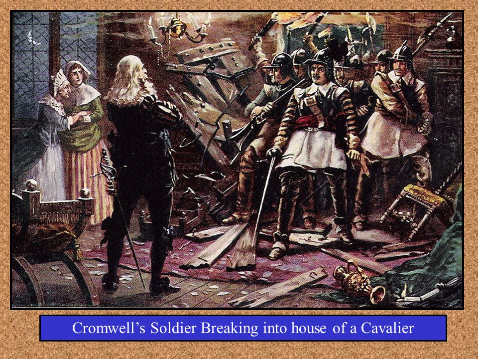 Cromwell's Soldier Breaking into house of a Cavalier