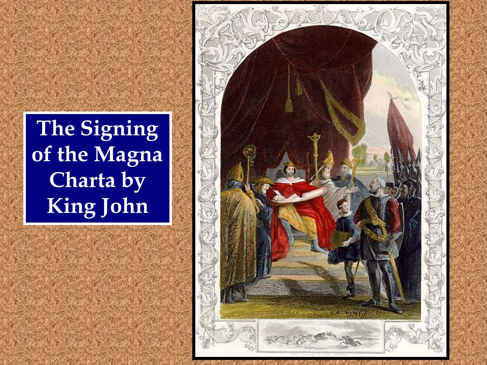 The Signing of the Magna Charta by King John