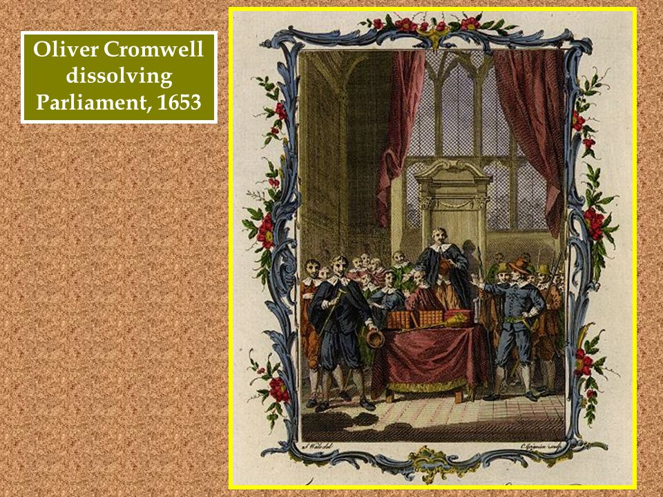 Oliver Cromwell dissolving Parliament, 1653