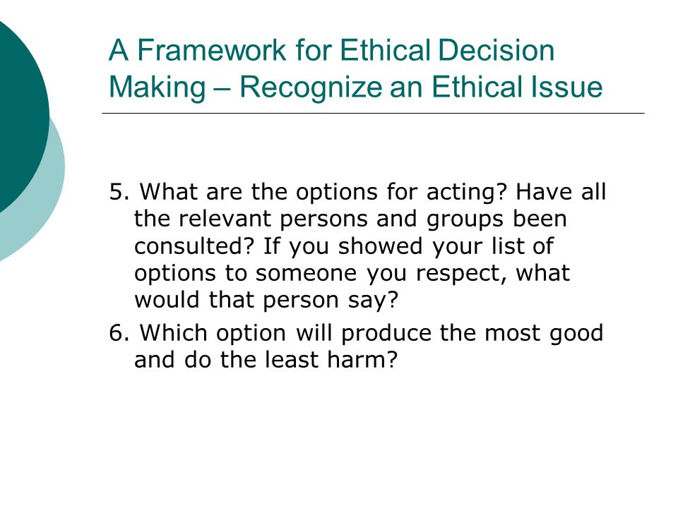 thinking ethically a framework for moral decision Making choices: a framework for making ethical decisions  summary of the major sources for ethical thinking, and then presents a framework for decision-making 1 what is ethics:  choosing to obey the universal moral law is the very nature of acting ethically.