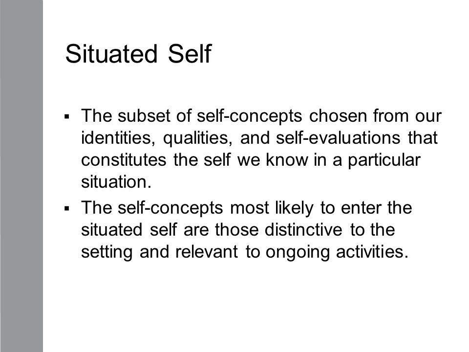 Situated Self