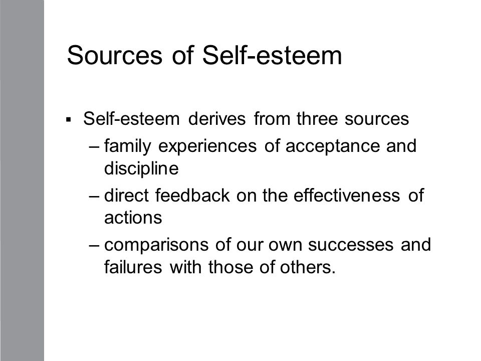 Sources of Self-esteem