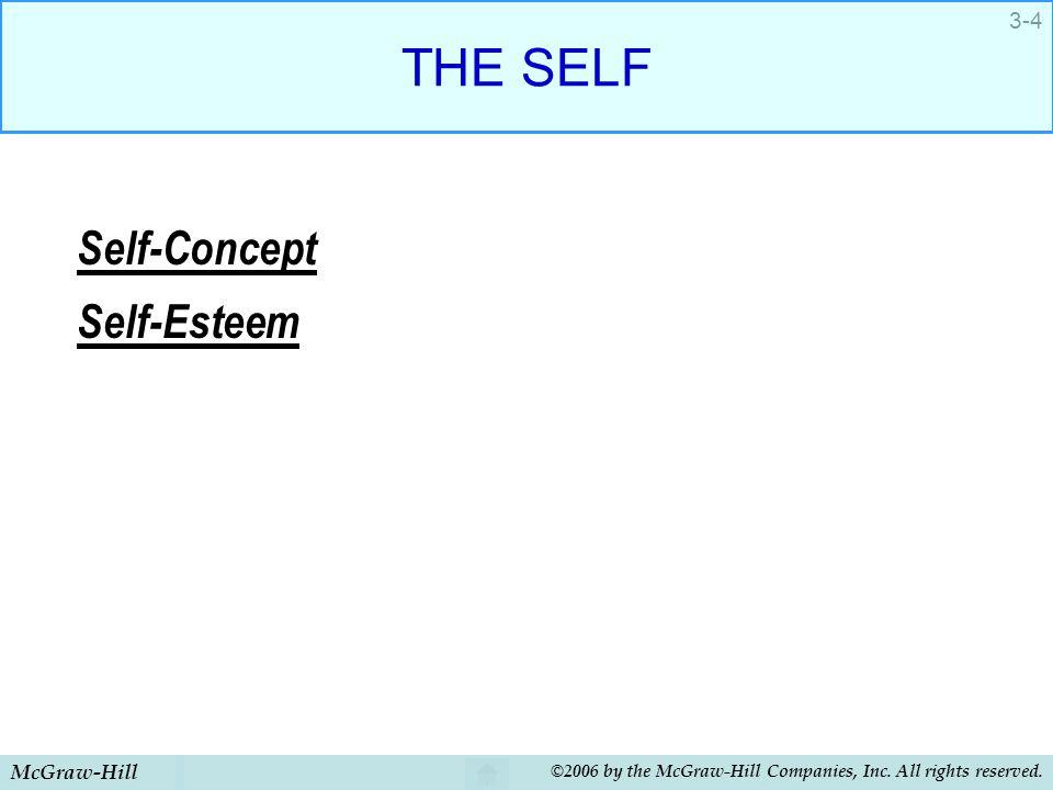 THE SELF Self-Concept Self-Esteem McGraw-Hill