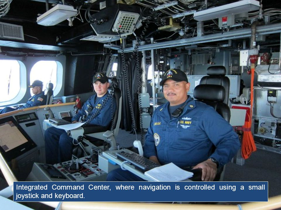 Integrated Command Center, where navigation is controlled using a small joystick and keyboard.