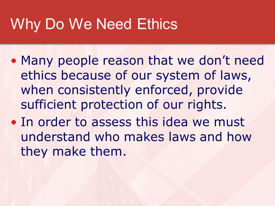 Why Do We Need Ethics