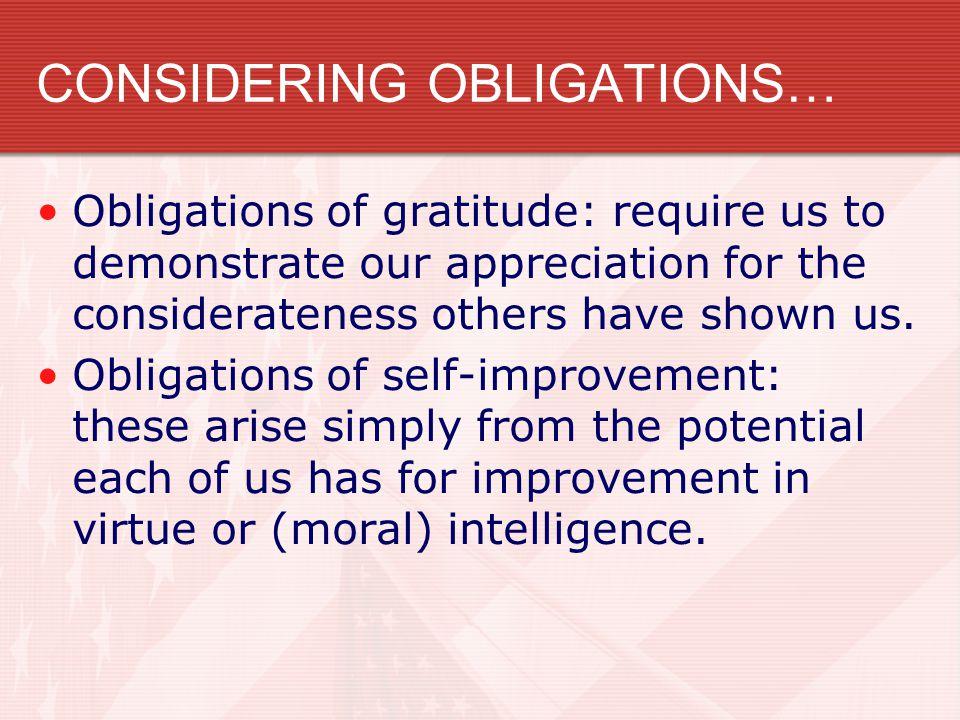 CONSIDERING OBLIGATIONS…