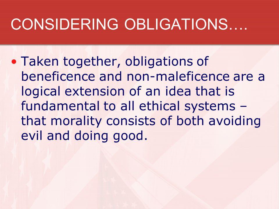 CONSIDERING OBLIGATIONS….