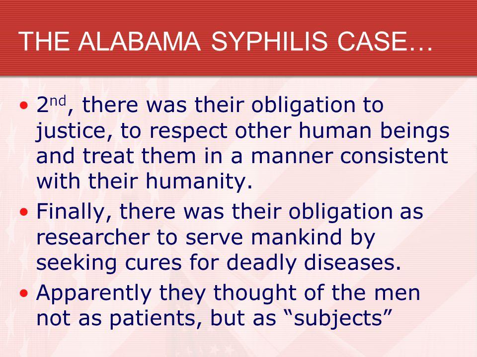 THE ALABAMA SYPHILIS CASE…