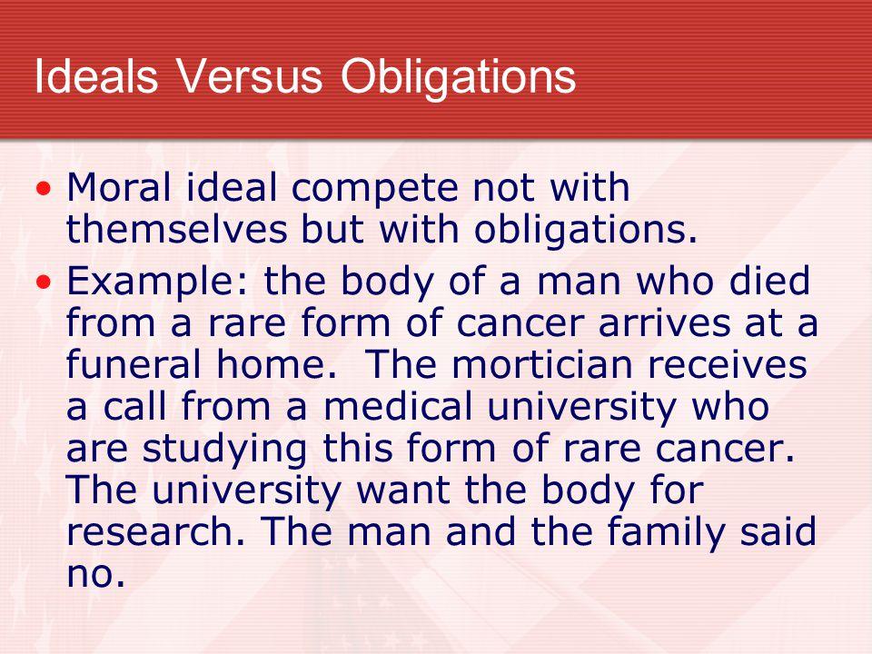 Ideals Versus Obligations