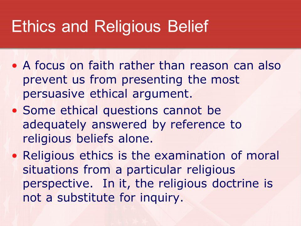 Ethics and Religious Belief