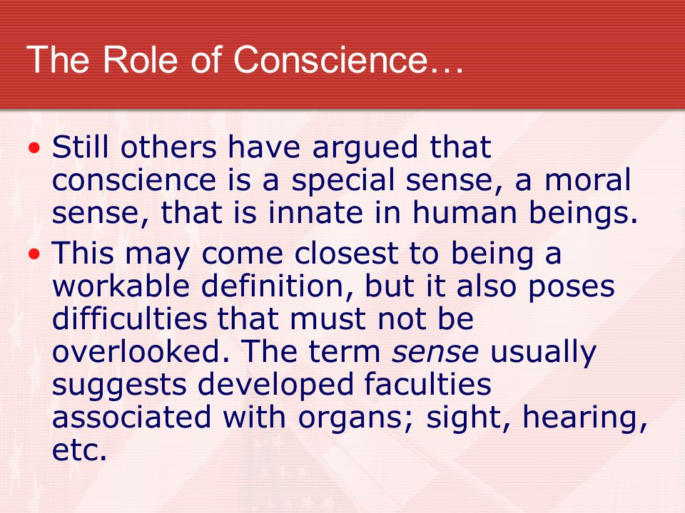 The Role of Conscience…