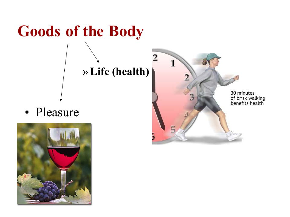 Goods of the Body Life (health) Pleasure