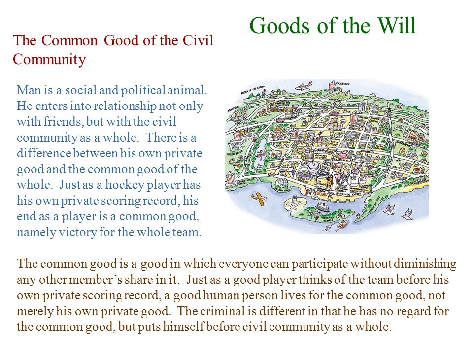 Goods of the Will The Common Good of the Civil Community