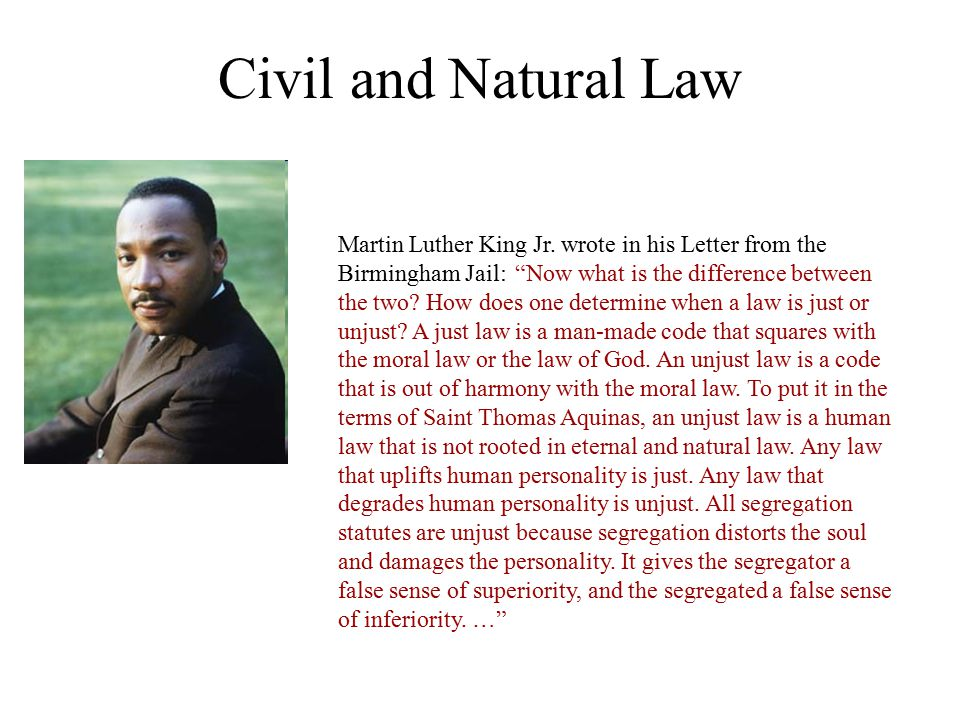 Civil and Natural Law
