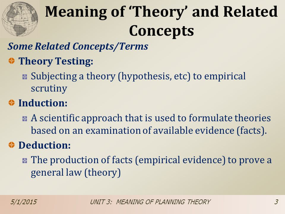 Meaning of 'Theory' and Related Concepts