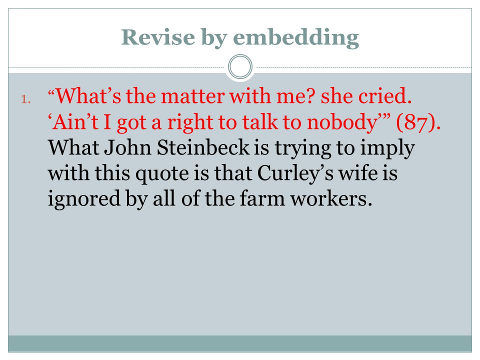 Revise by embedding
