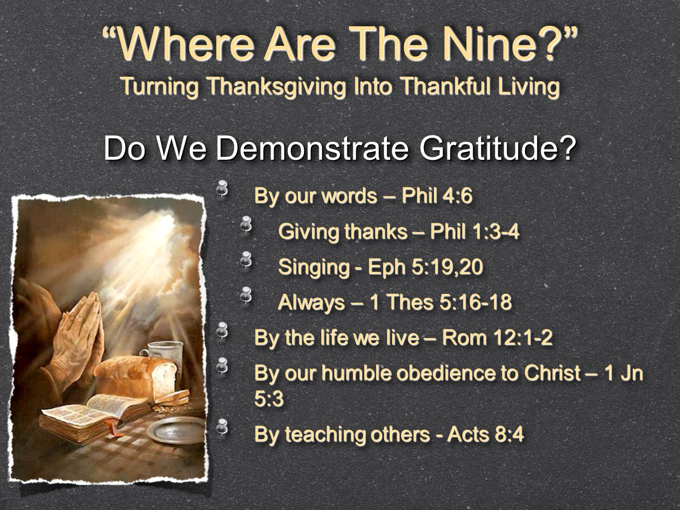 Where Are The Nine Do We Demonstrate Gratitude