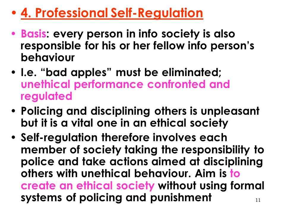 4. Professional Self-Regulation
