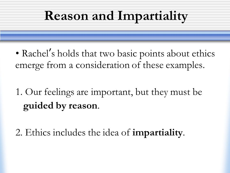 Reason and Impartiality