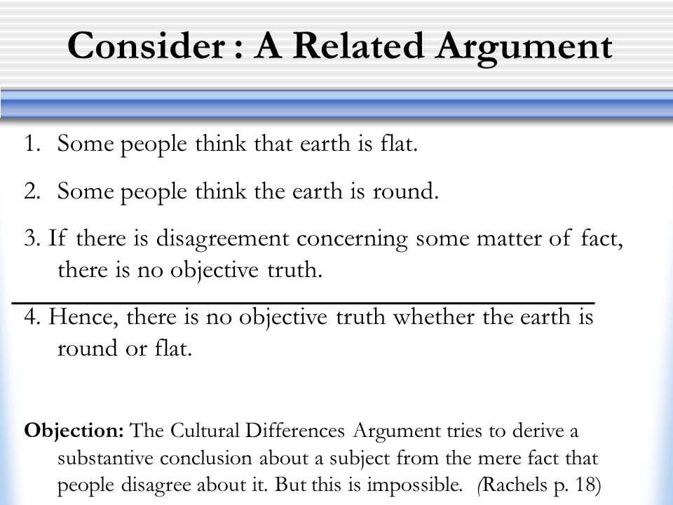 Consider : A Related Argument