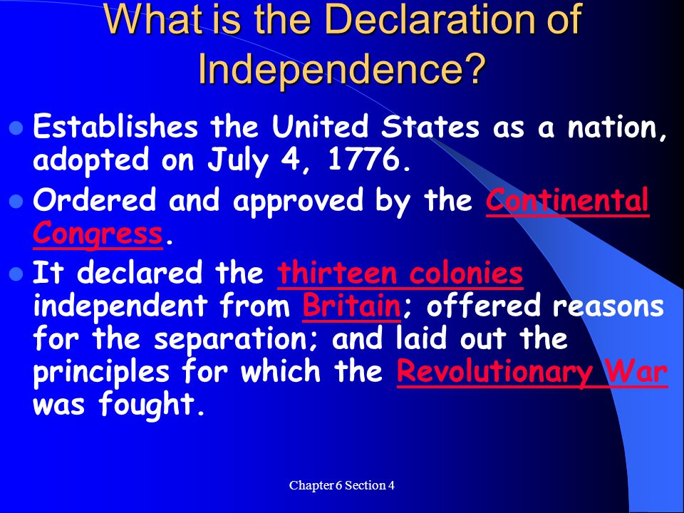 What is the Declaration of Independence
