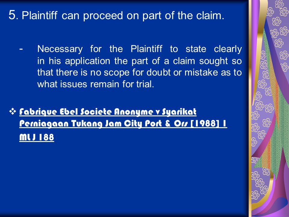5. Plaintiff can proceed on part of the claim.