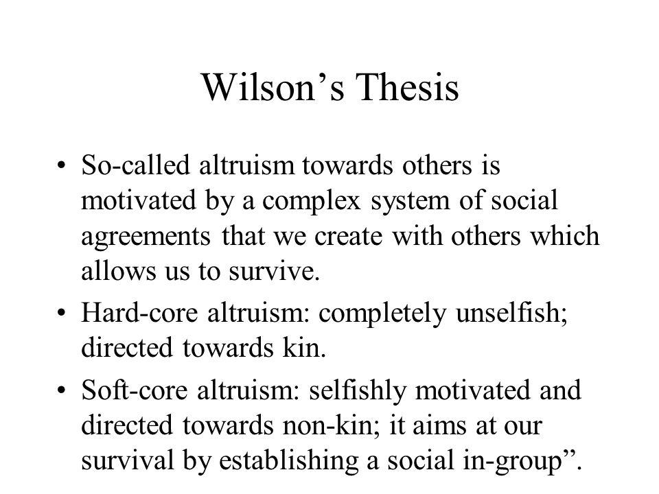Wilson's Thesis