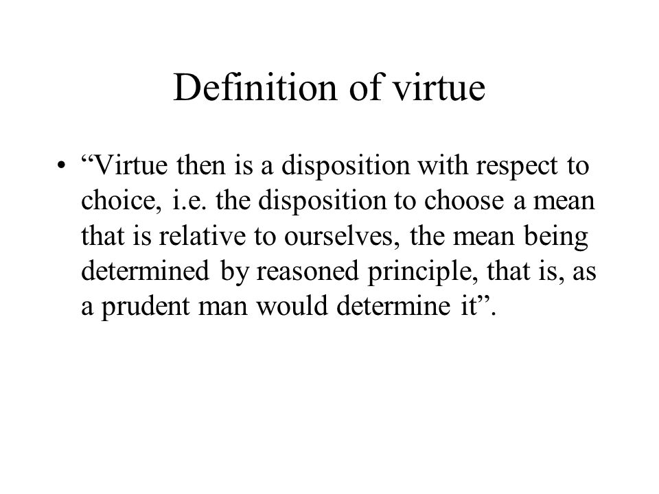 Definition of virtue