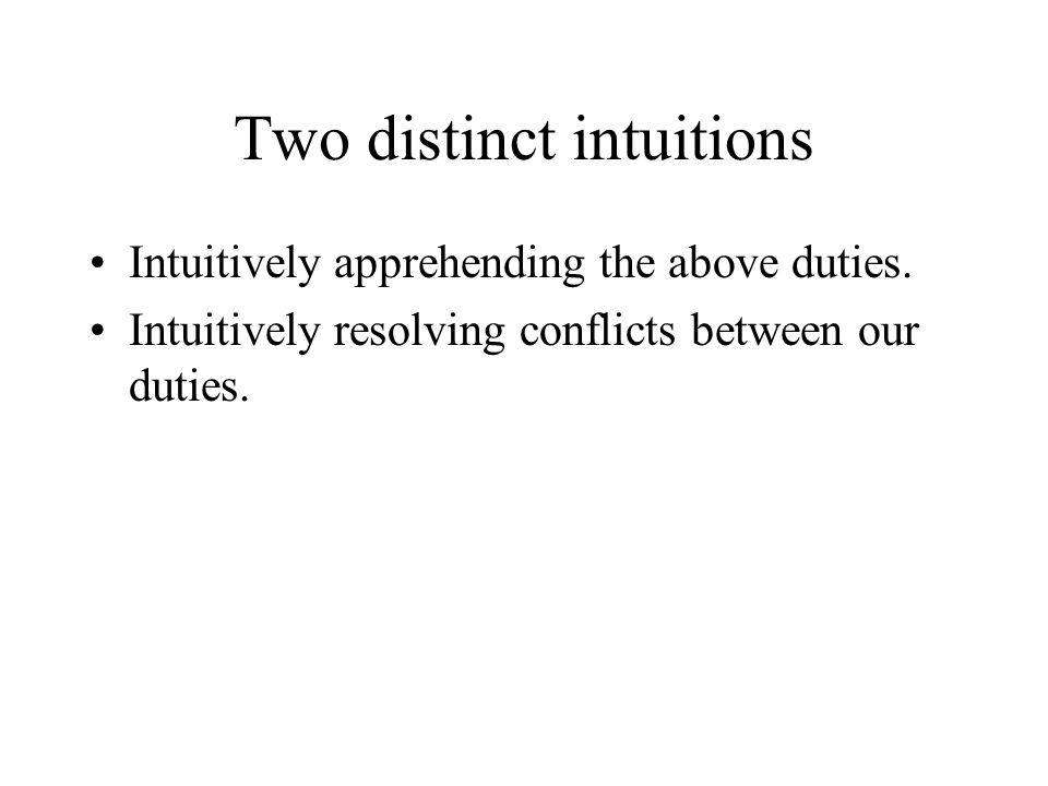 Two distinct intuitions