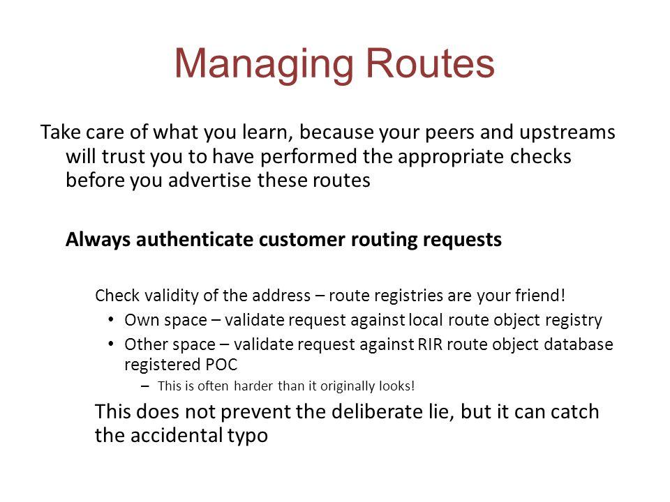 Managing Routes
