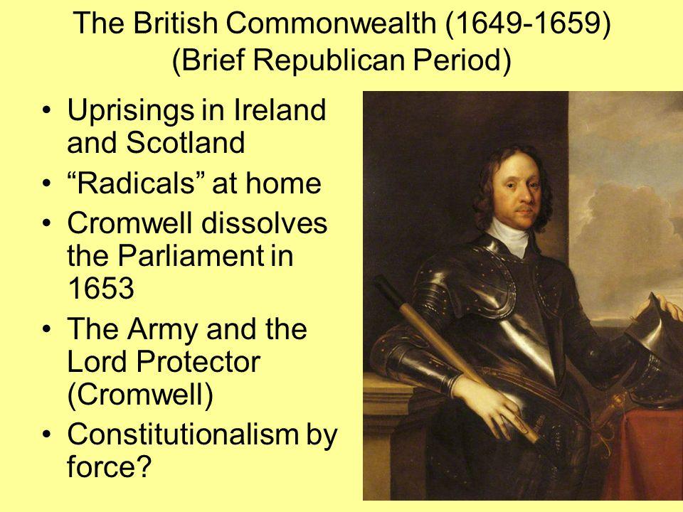 The British Commonwealth (1649-1659) (Brief Republican Period)