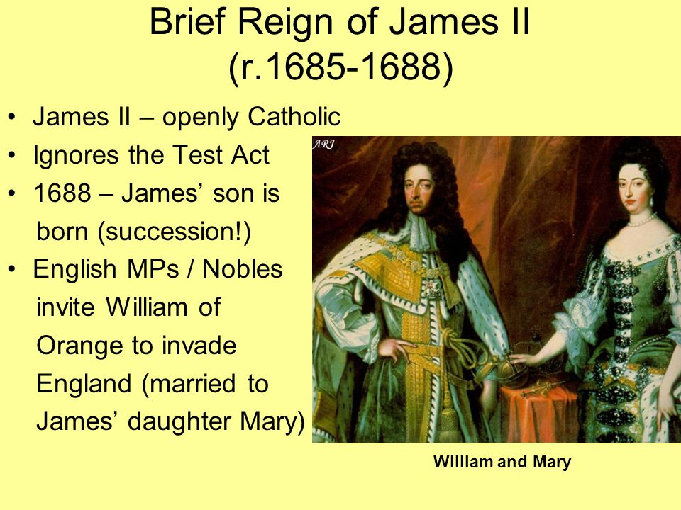Brief Reign of James II (r.1685-1688)