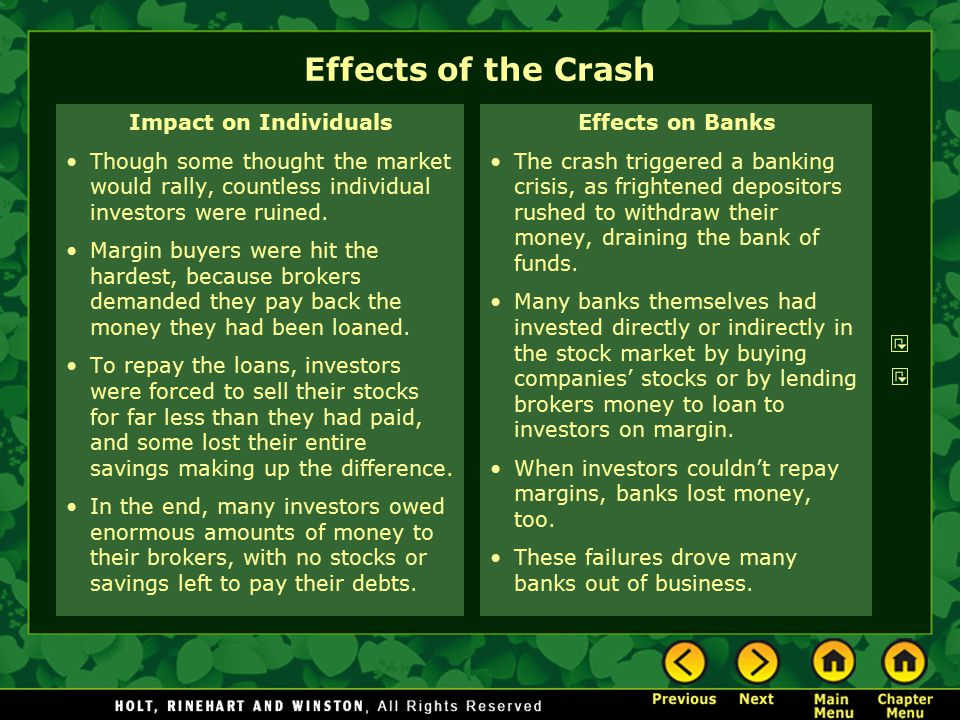 Effects of the Crash Impact on Individuals