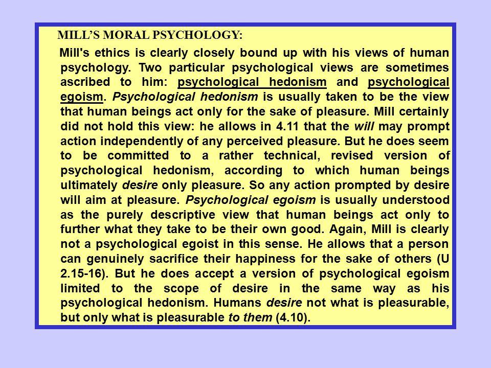 MILL'S MORAL PSYCHOLOGY: