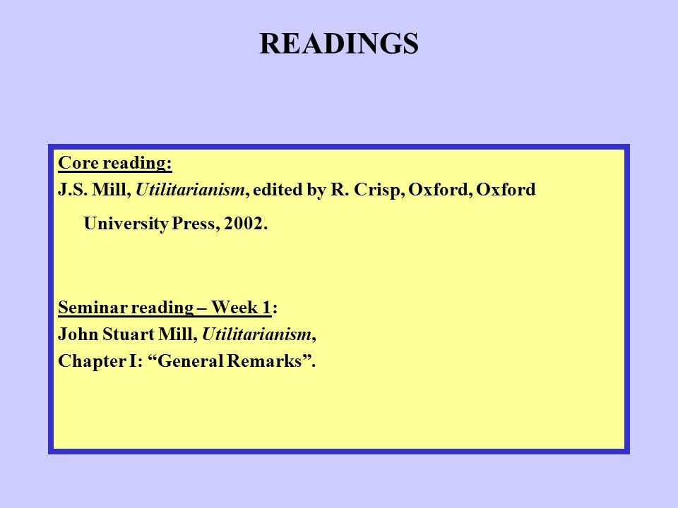READINGS Core reading: