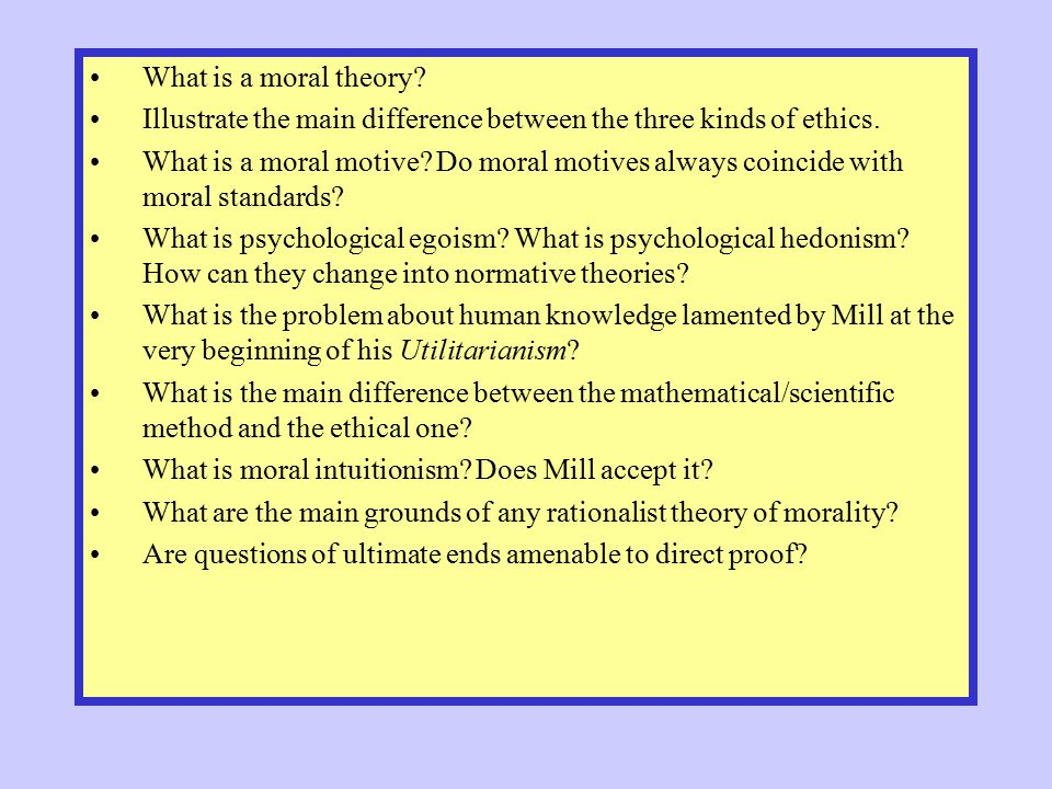 What is a moral theory Illustrate the main difference between the three kinds of ethics.