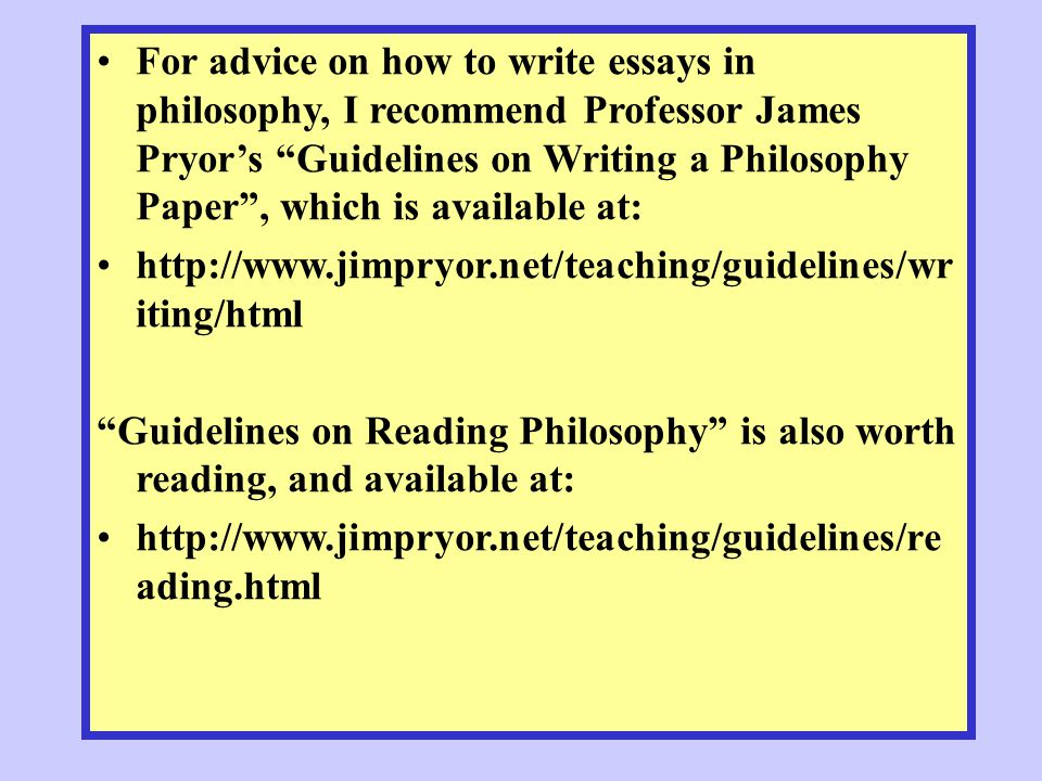 how to write philosophy papers Professional philosophers actually write your papers are supposed to be in clear and when youre writing a philosophy paper.