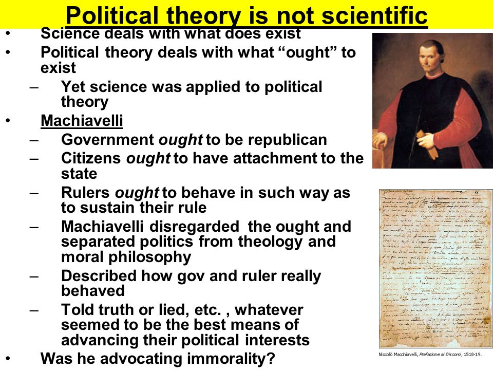 Political theory is not scientific
