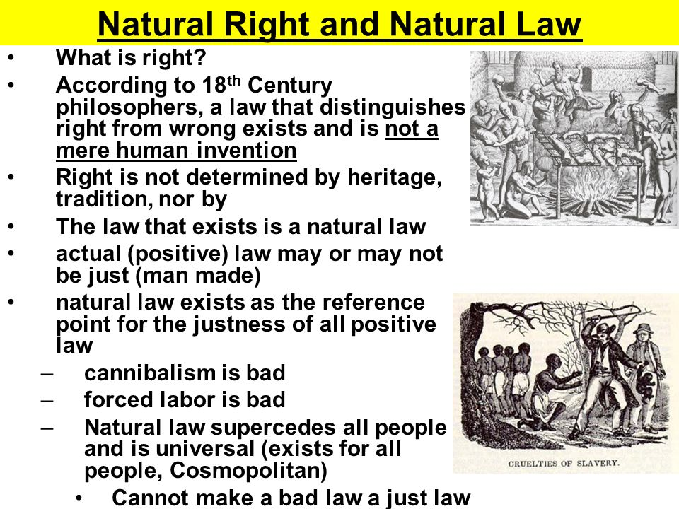 Natural Right and Natural Law