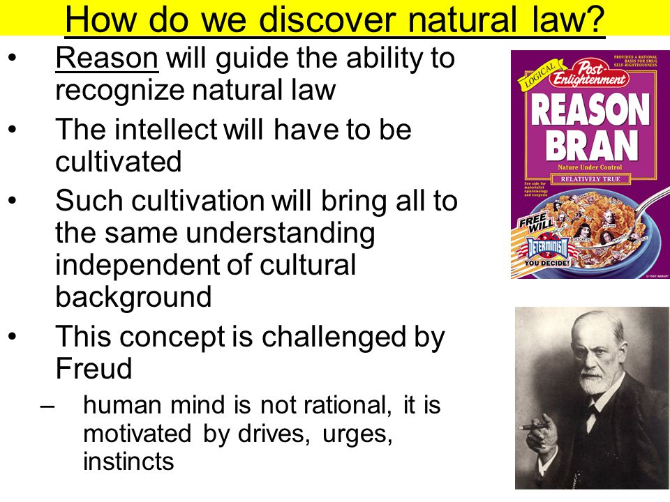 How do we discover natural law