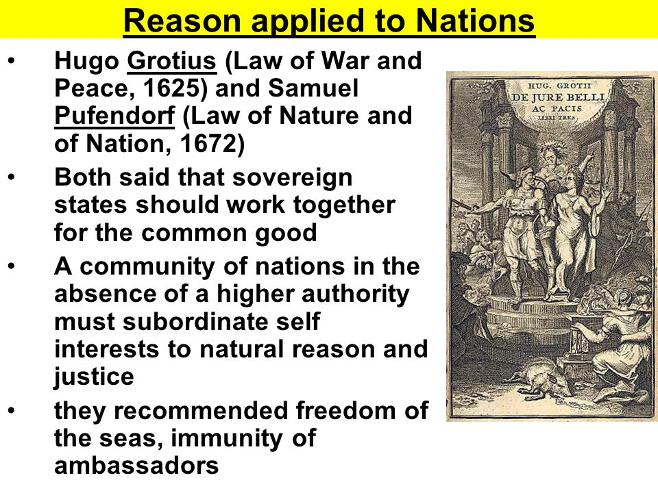 Reason applied to Nations