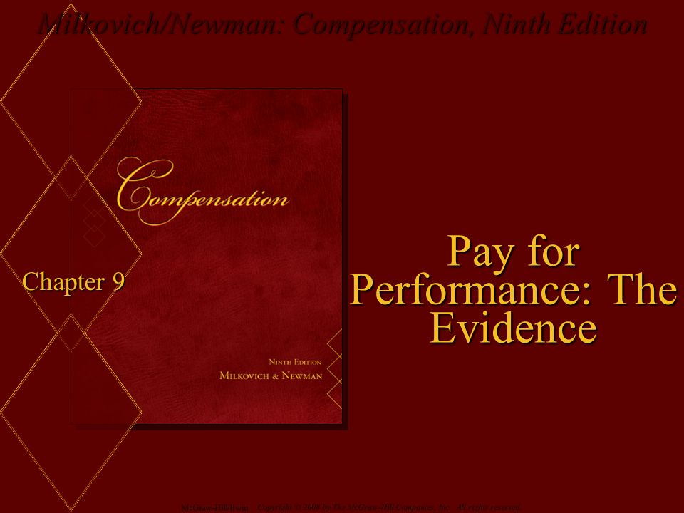 Pay for Performance: The Evidence
