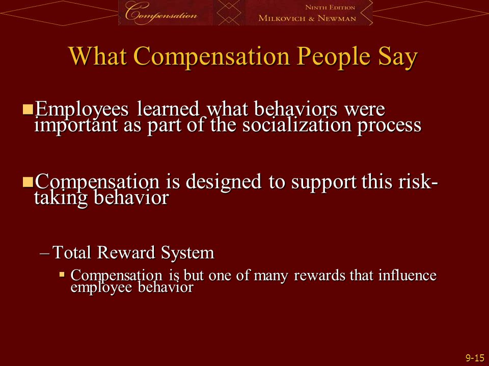 What Compensation People Say