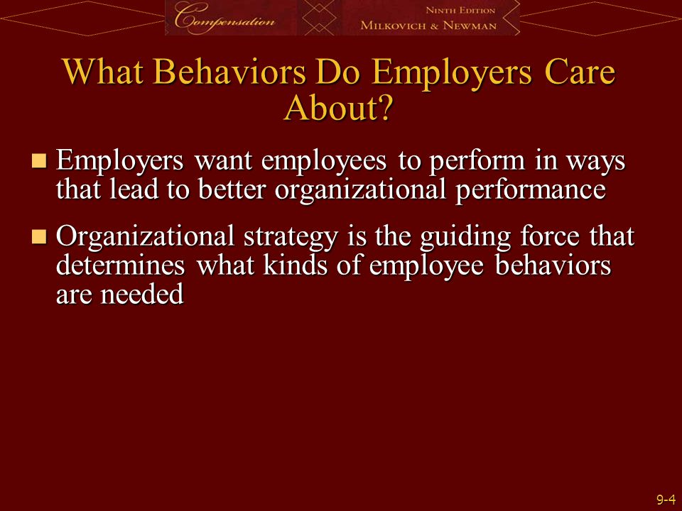 What Behaviors Do Employers Care About