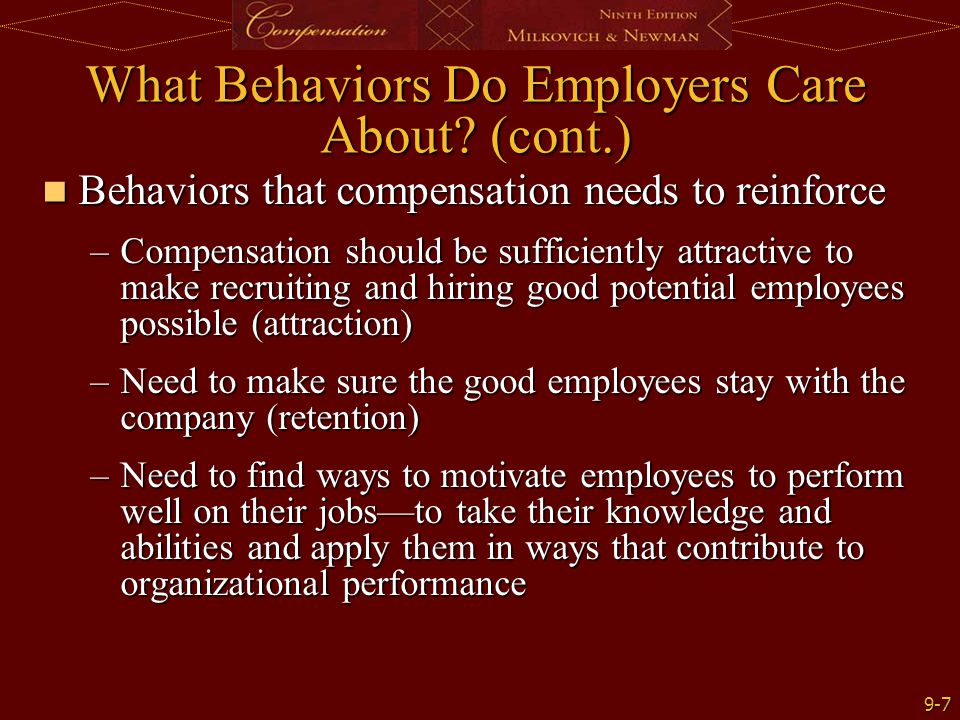 What Behaviors Do Employers Care About (cont.)