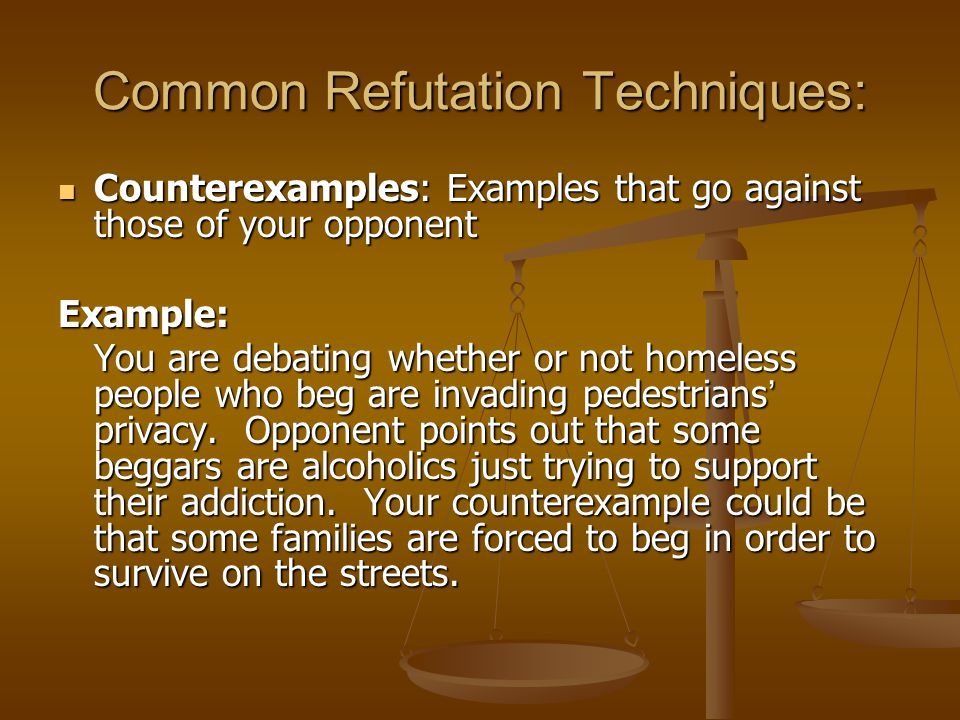 Common Refutation Techniques: