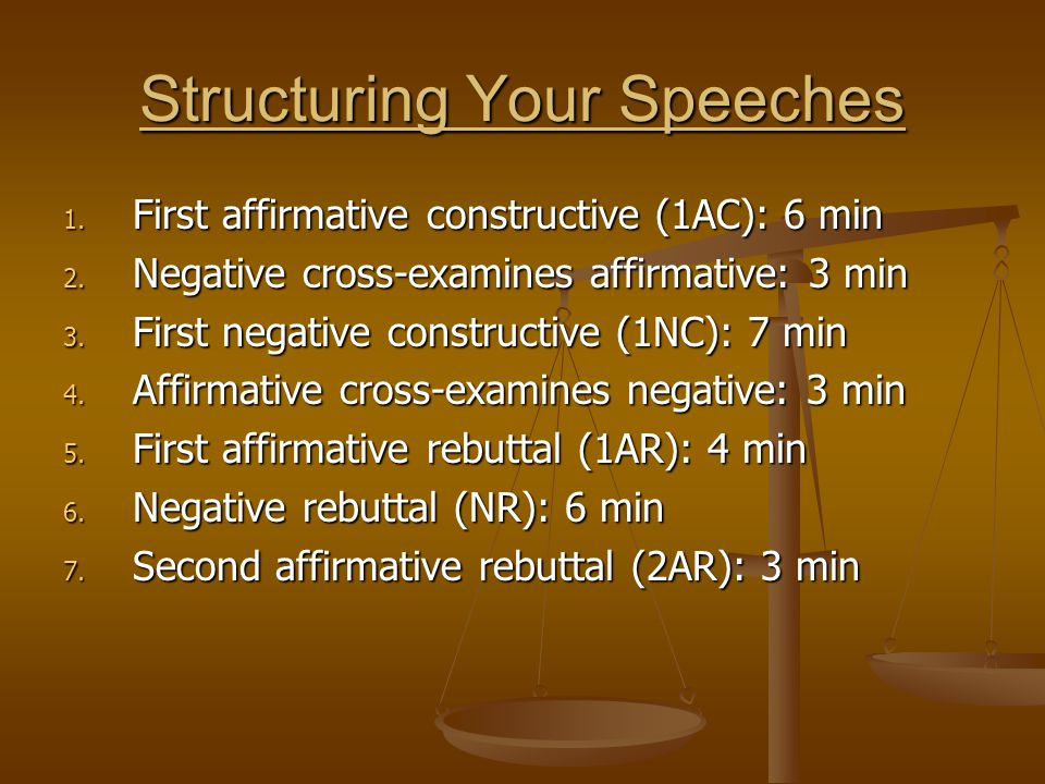 Structuring Your Speeches