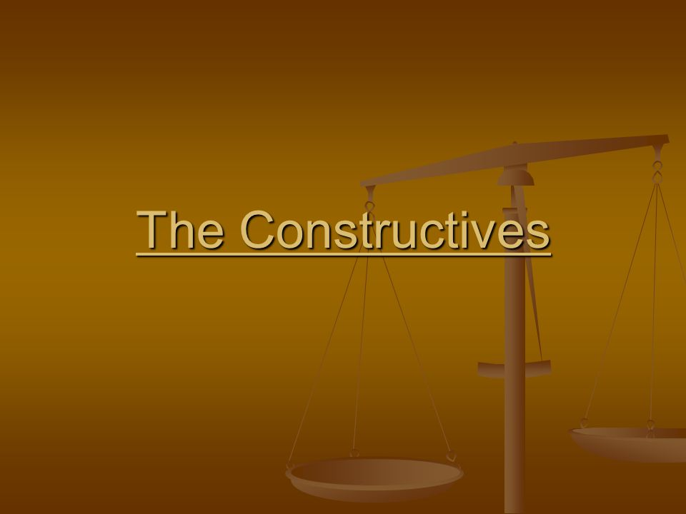 The Constructives